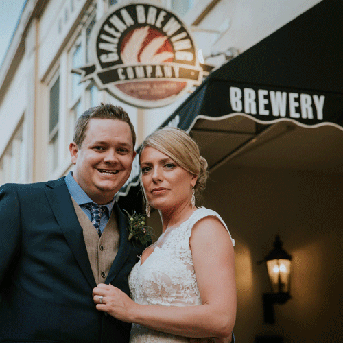 wedding photography at craft brewery galena brewing company